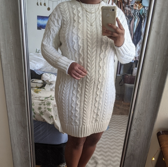 Cable Knit UNIQLO Sweater Dress